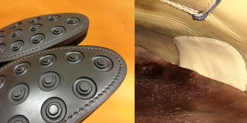 ソールの交換、革の破れ修理
