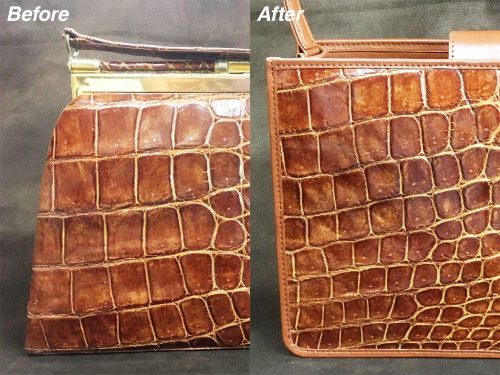 クロコダイル革のバッグ