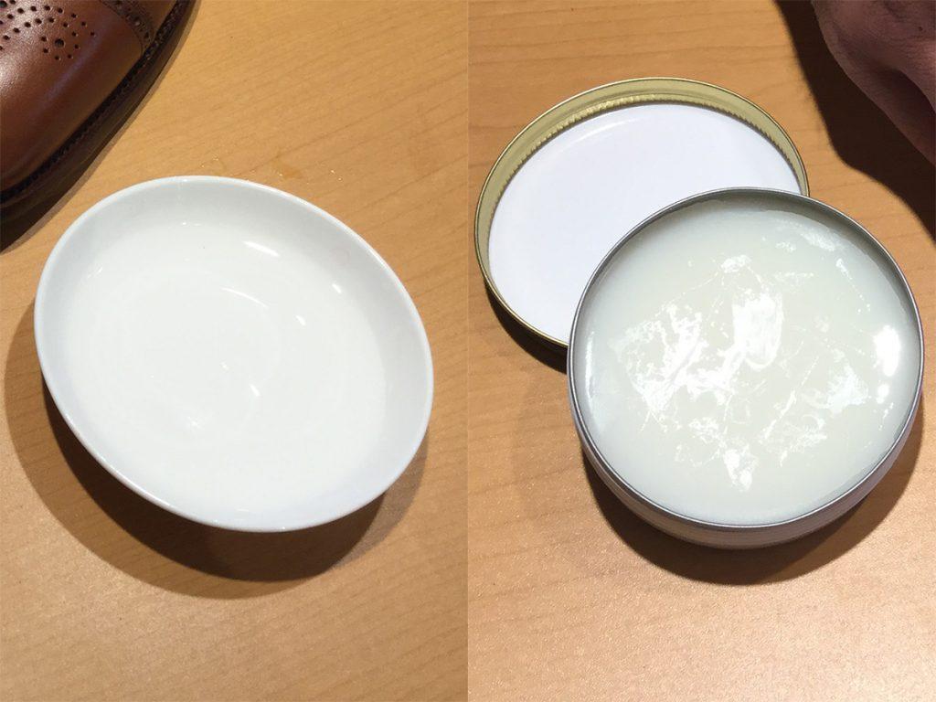鏡面磨きに使う水とサフィールビーズワックスポリッシュ