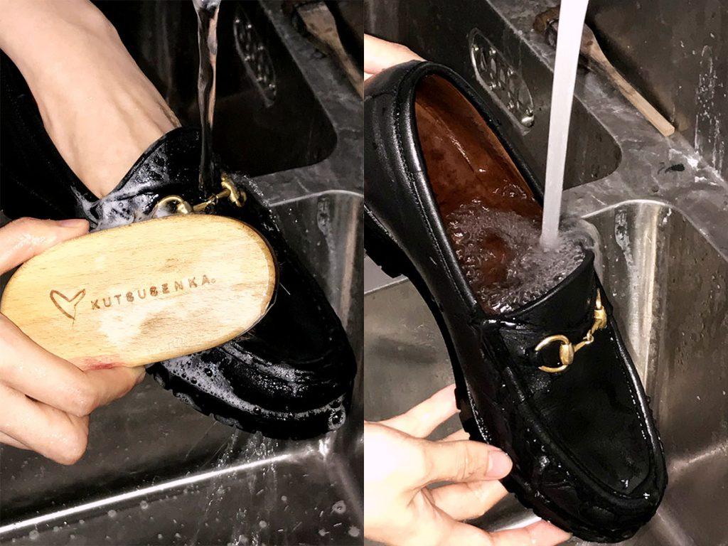 オゾン水を使用した靴クリーニング