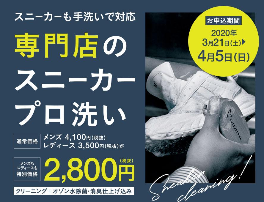専門店のスニーカープロ洗いキャンペーン